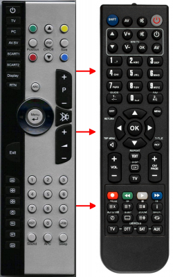 Erstatnings-fjernbetjening til  Medion 2002-0049