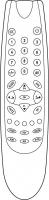 Náhradní dálkový ovladač pro Akai 1415