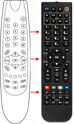Replacement remote control for Akai 1415