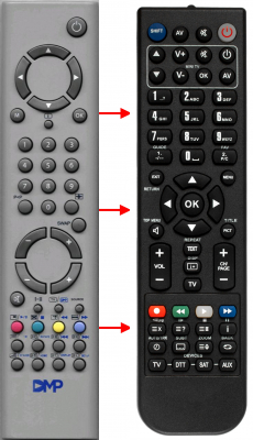 Replacement remote control for Akai 1006 41 59