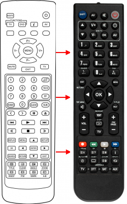 Replacement remote control for Aeg 631020001381