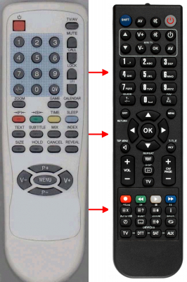 Replacement remote control for 1One CRT15(2VERS.)