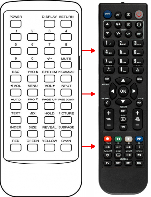 Replacement remote control for Cat CTS1510