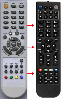 Replacement remote control for Cat CTS2610
