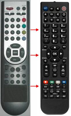 Erstatnings-fjernbetjening til  Neom EN-21602C