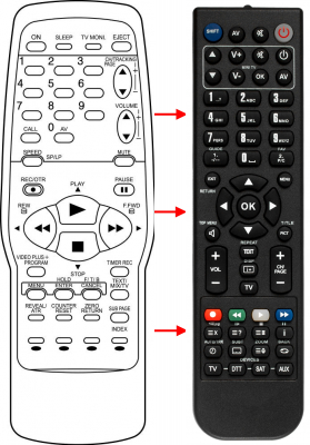 Replacement remote control for Grundig 07660CH070