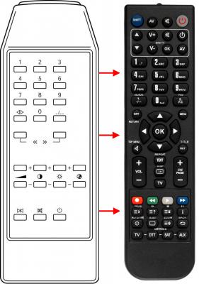 Erstatnings-fjernbetjening til  LG 105-042A