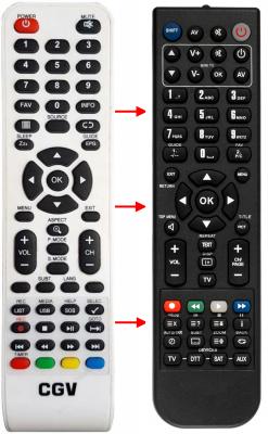Replacement remote control for Cgv APOLLO L22W10