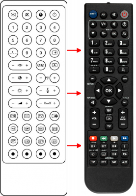 Replacement remote control for A.R. System CTV20BG1