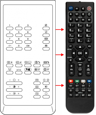 Replacement remote control for Accent ATV51CMR