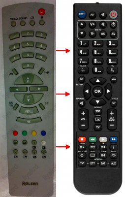 Replacement remote control for White Westinghouse GHEPARD171