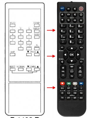 Replacement remote control for Thorn 082 398 300001