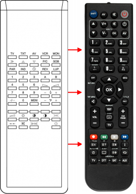 Replacement remote control for Bruns 3749370 01953