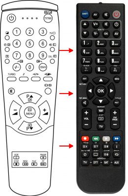 Replacement remote control for Toshiba 00082B