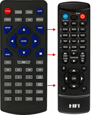 Replacement remote control for Palsonic MODEL7600WS