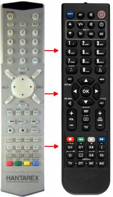 Erstatnings-fjernbetjening til  Hantarex 32SGTV
