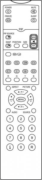 IIYAMA PROLITEC320W Replacement remote control