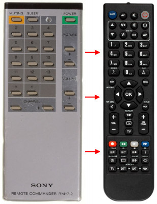 Replacement remote control for Classic IRC81001