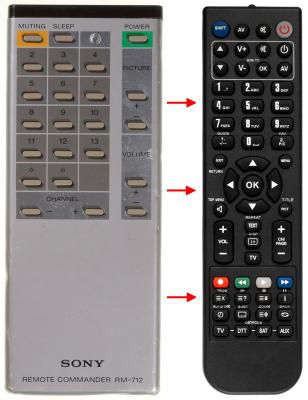 Erstatnings-fjernbetjening til  Classic IRC81001
