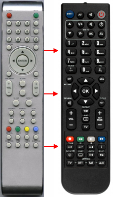 Replacement remote control for Belson 504C1901804