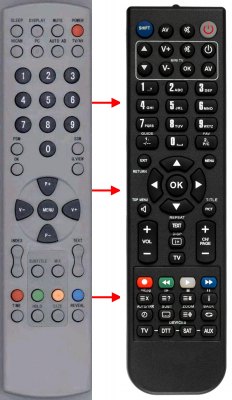 Replacement remote control for Haier 34283G2-G3ABA