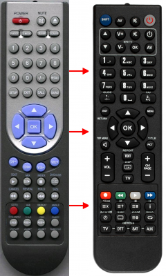 Replacement remote control for Aeg 48-75TV