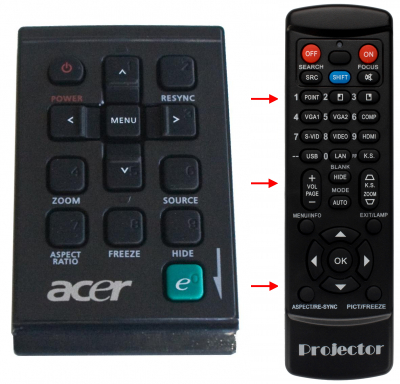 Replacement remote control for Acer A-13