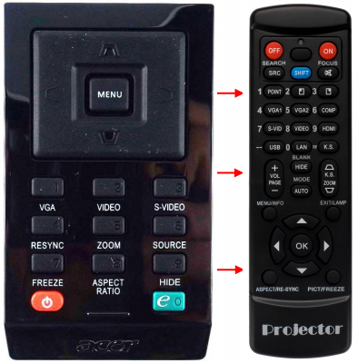 Replacement remote control for Acer A-16041