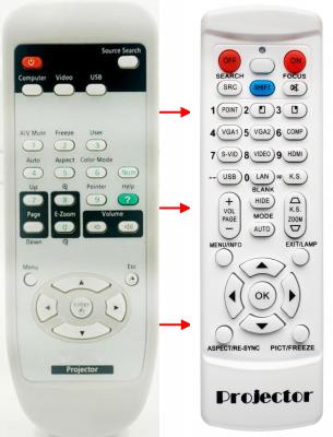 Erstatnings-fjernbetjening til  Epson 149161600
