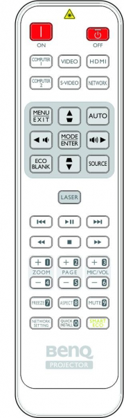 Replacement remote control for BenQ MH741