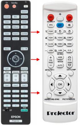 Erstatnings-fjernbetjening til  Epson 217331000