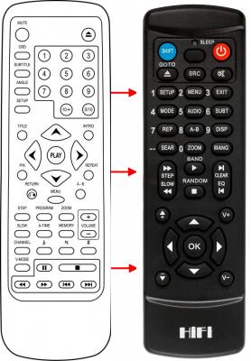 Erstatnings-fjernbetjening til  All Tel 8166F