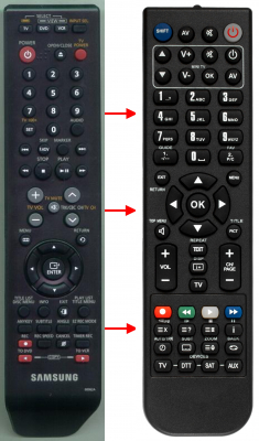 Replacement remote control for Samsung 00015K