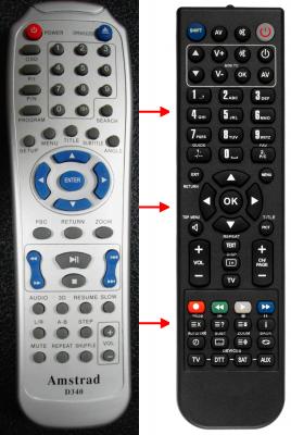 Erstatnings-fjernbetjening til  Bluetech DVF0100BT001