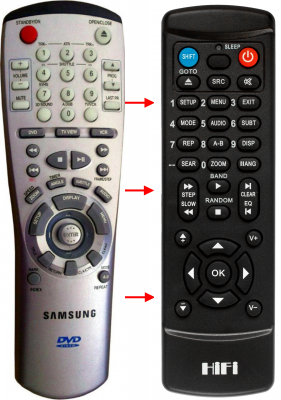 Replacement remote control for Samsung 00002A