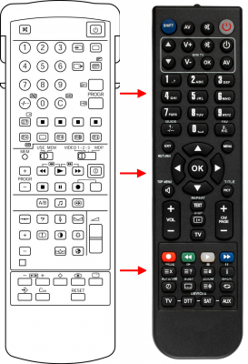 Replacement remote control for Sony 1-465-363-11
