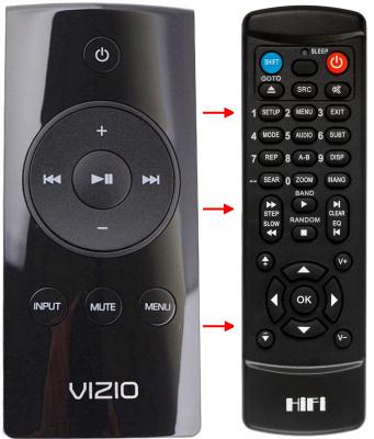 Replacement remote for Vizio SB4021M-A1 RRMCGA304AWSB