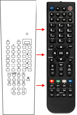 Replacement remote control for Classic IRC81008-OD