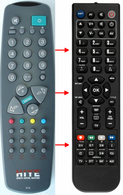 Replacement remote control for Akai 1411T