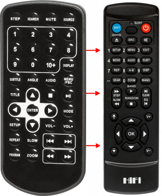 Replacement remote control for Belson BS-118V3