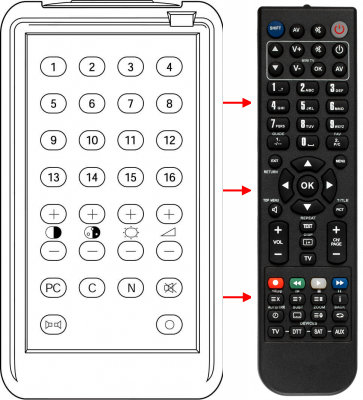 Replacement remote control for Bruns 1204.25-80.00