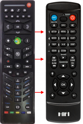 Replacement remote control for ZT Group Z2062
