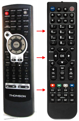 Erstatnings-fjernbetjening til  Cdv 1636K-USB