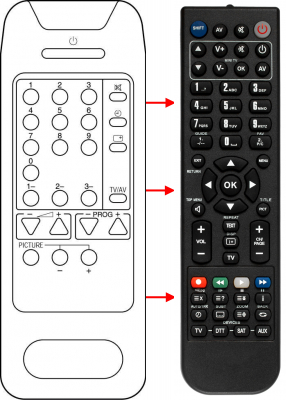 Replacement remote control for Bruns 36M