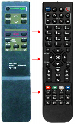 Replacement remote control for Accent HVG900IP F
