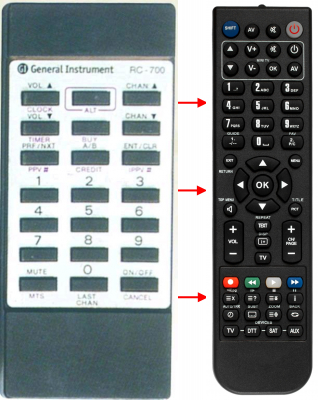 Replacement remote control for Classic IRC81002