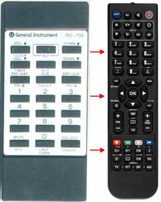 Erstatnings-fjernbetjening til  Classic IRC81002