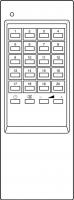Erstatningsfjernkontroll for Samsung 24T3