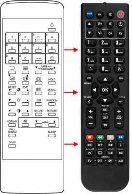 Replacement remote control for Grundig 076100Q001