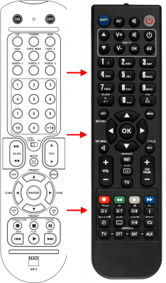 Replacement remote control for Nad C325BEE